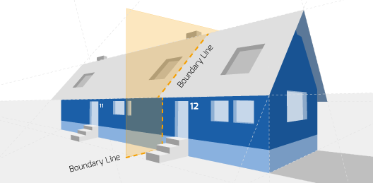 Party Wall illustration for Lichfield